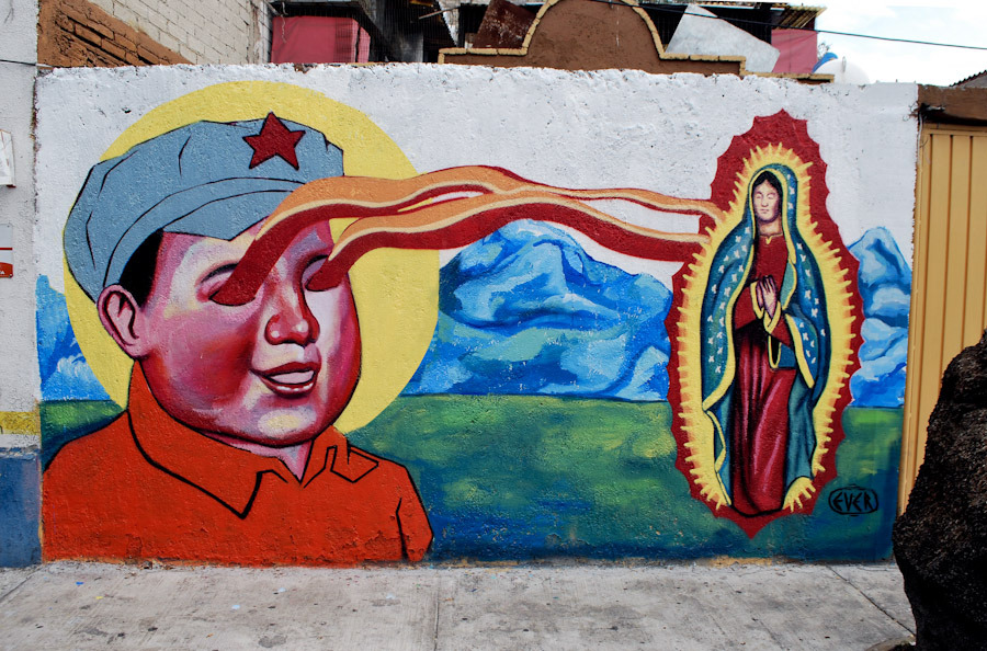 Unurth street art for Christian mural