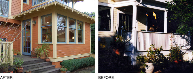 My Client In This Beautiful Irvington Home Decided The Old Back Porch Off  The Kitchen Would Better Serve As Living Space. She Was Right!