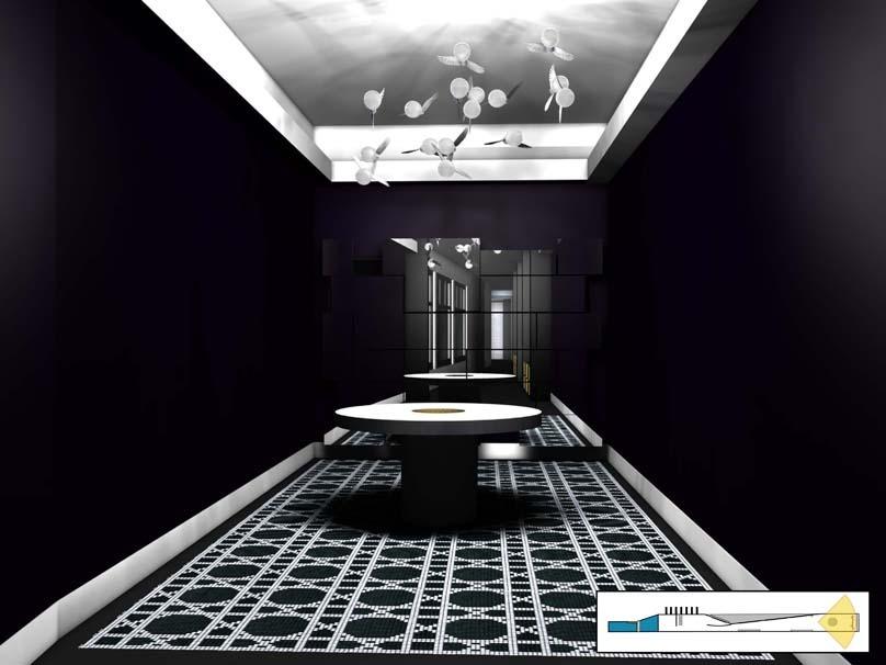 bisazza mosaico ingo maurer showroom sa sa. Black Bedroom Furniture Sets. Home Design Ideas